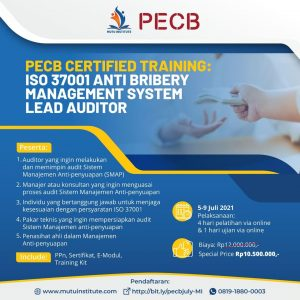 ISO 37001 Anti Bribery Management System Lead Auditor (PECB Certified Training)
